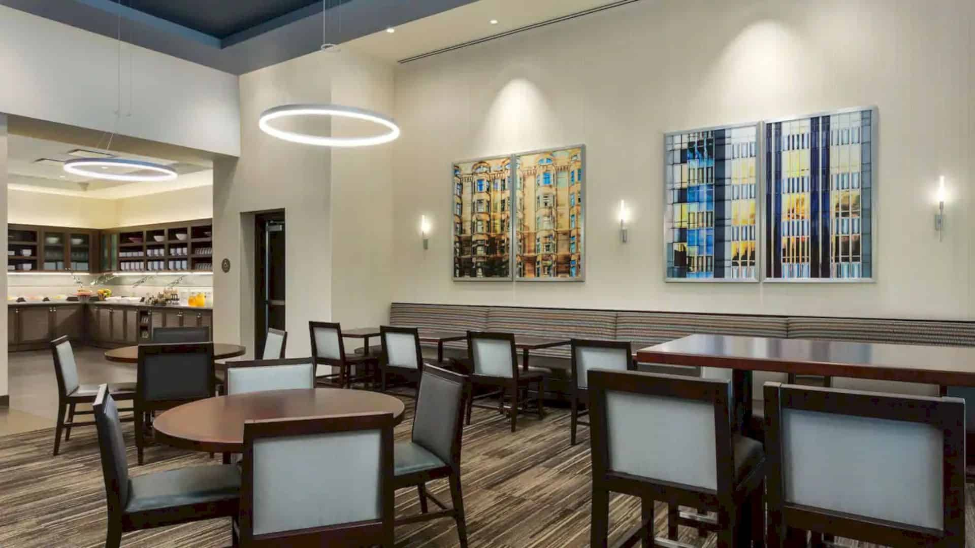 Hyatt Place Chicago Downtown The Loop Silver Leed Certified Hotel With Full Amenities And Services Dining Area Modern Minimalist