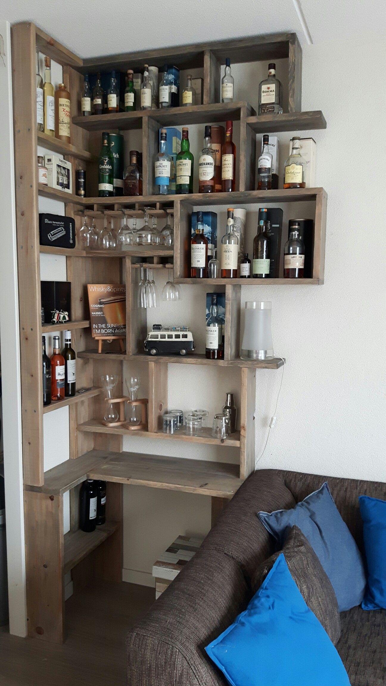 Whisky Kast Van Nieuw Oud Steigerhout 1 W Whisky 威士忌