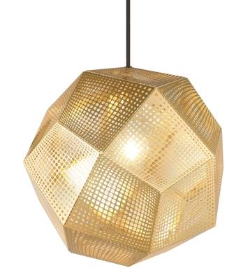 Tom Dixon Etch Shade Pendel Gold Taklampe Takbelysning Glasshus