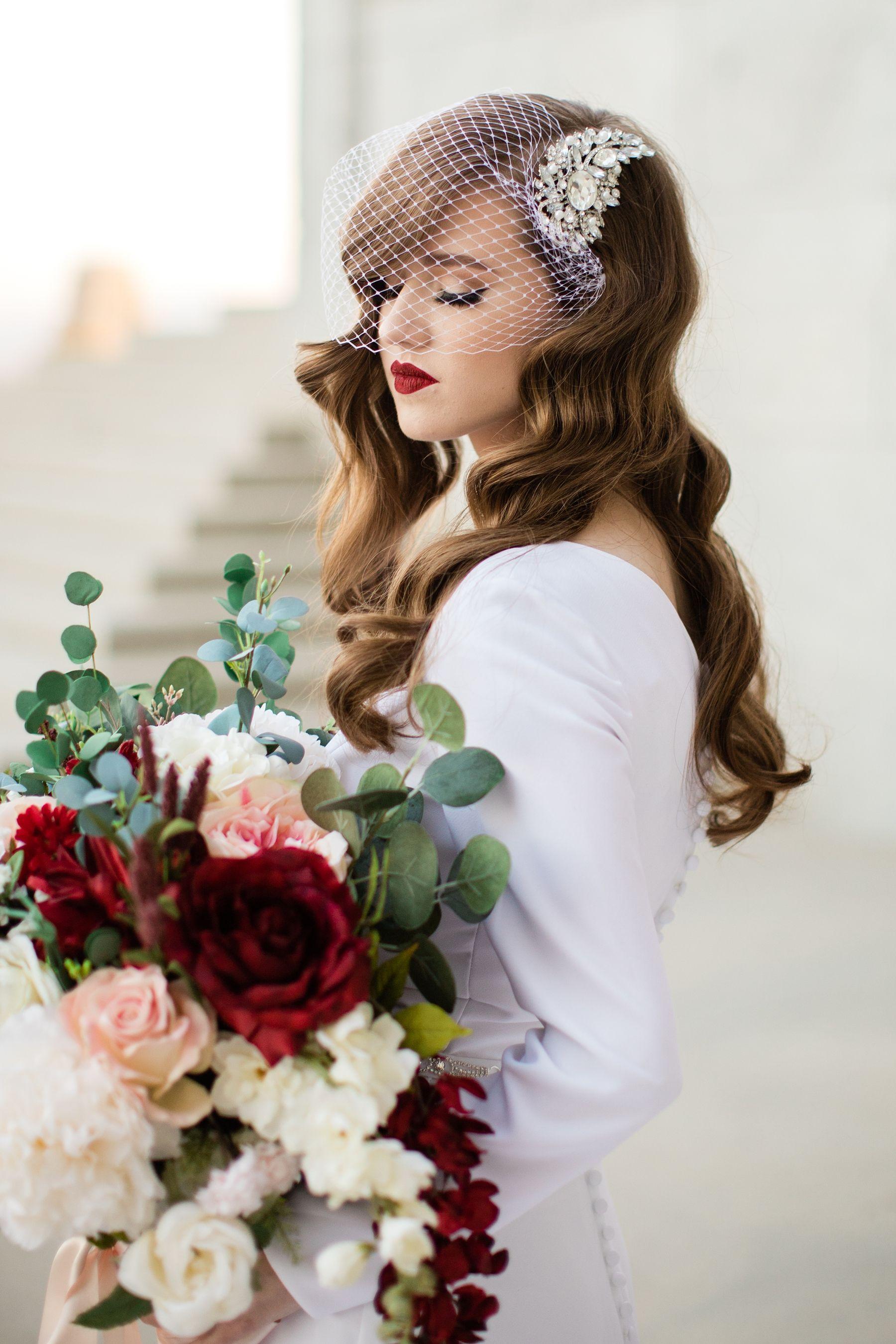 Utah State Capitols Bridal Session -   13 wedding Veils birdcage ideas
