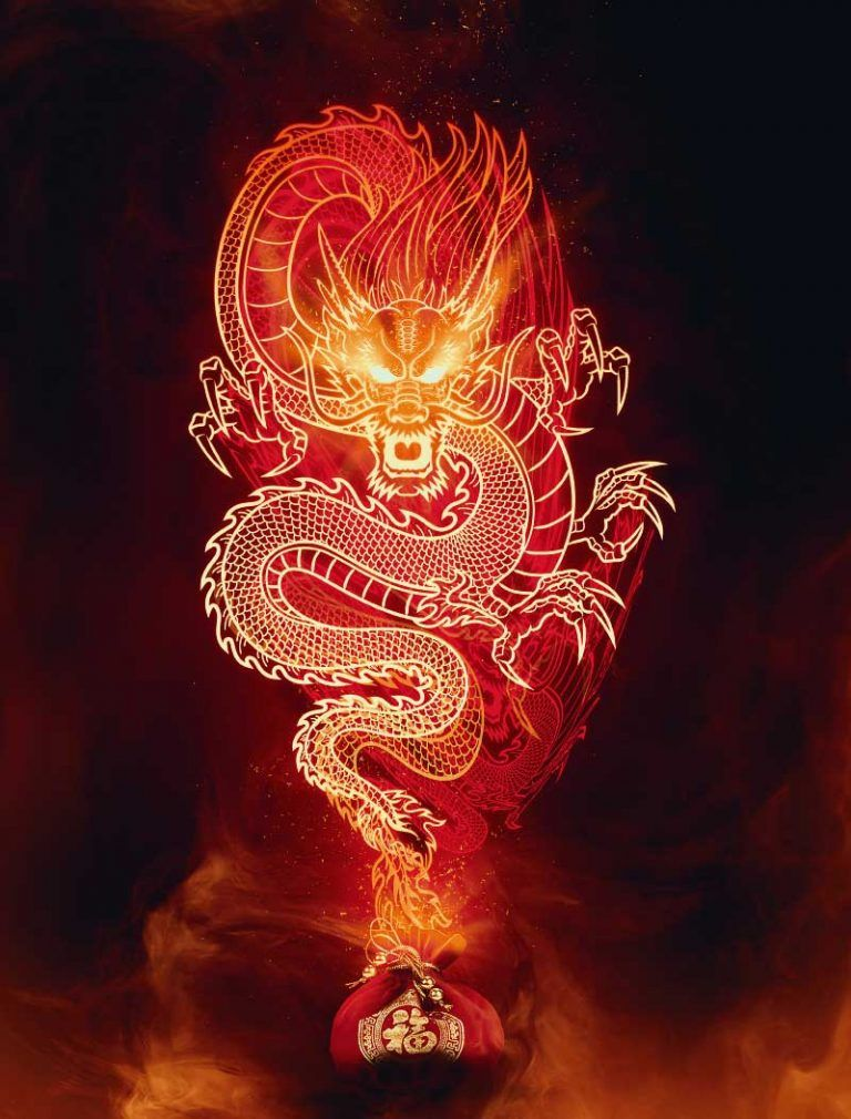 Learn how to design a chinese fire dragon in in