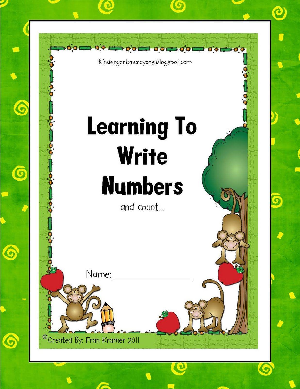 Kindergarten Crayons Writing Numbers Book N Make As A