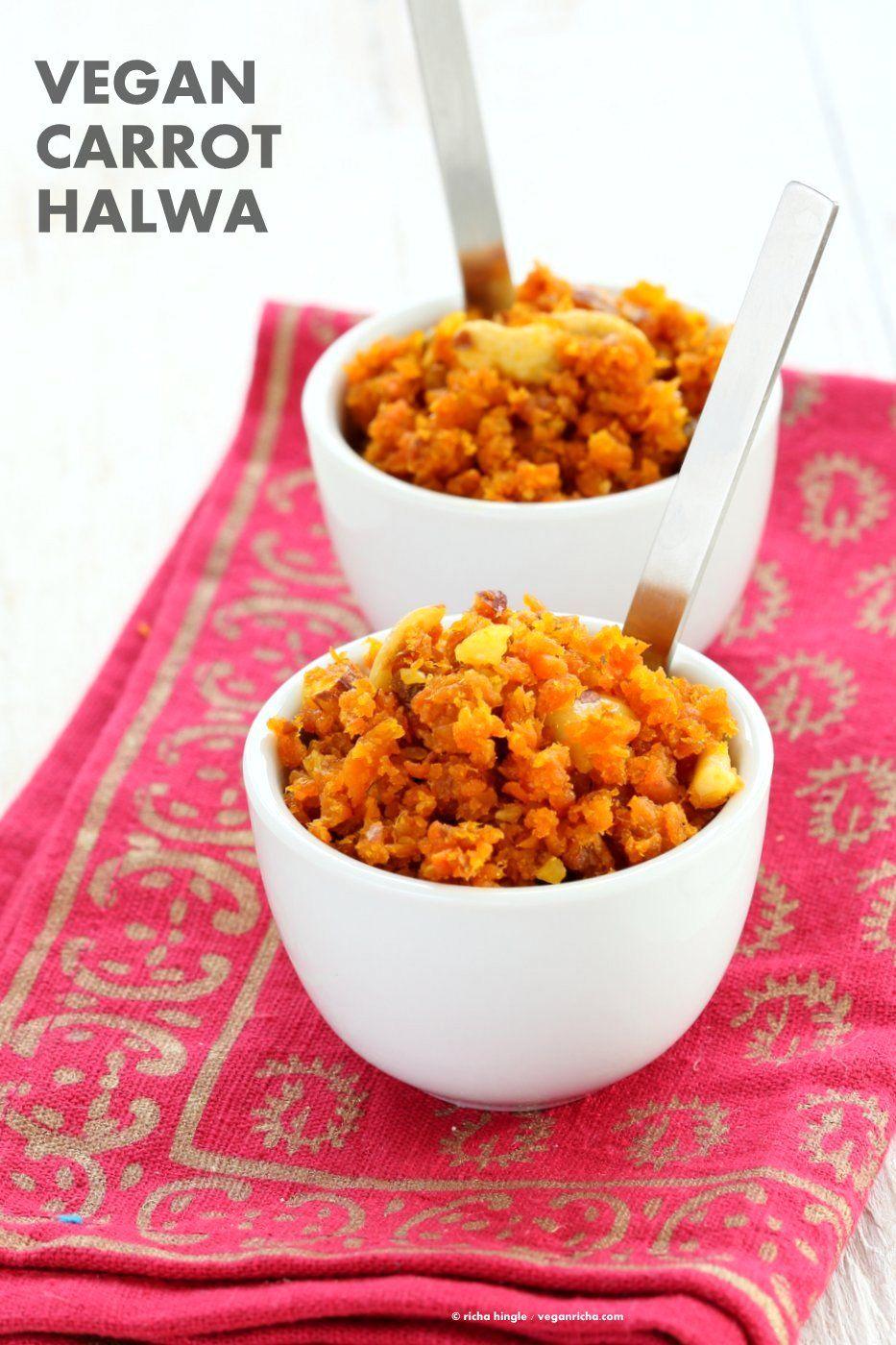 Vegan Carrot Halwa Recipe. Gajar Ka Halwa is a a dessert made with shredded…