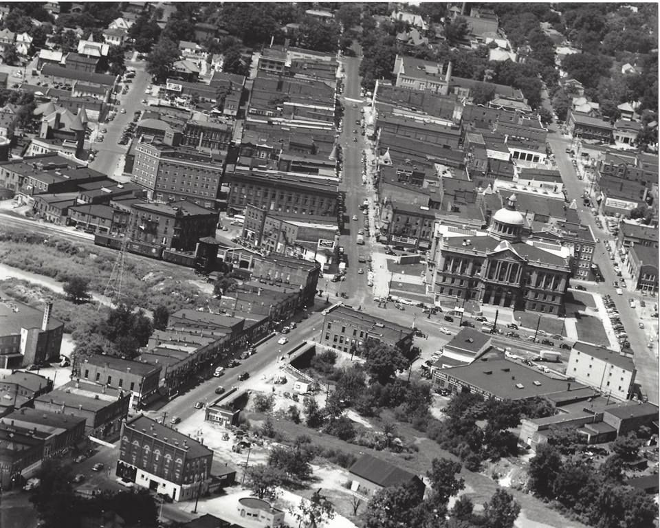 Aerial Downtown Huntington Indiana Photo Back Of Says 1950 S