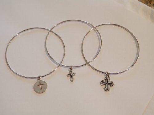 Designer Inspired 3pc Bangle Bracelet Set with Cross Charms Value Line,http://www.amazon.com/dp/B00C2AE0H0/ref=cm_sw_r_pi_dp_D-iQsb198NPW0A80
