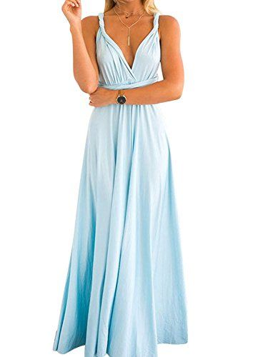 0bcc0ca747 Choies Women s Infinity Gown Dress Multi-way Strap Wrap Convertible Maxi  Dress