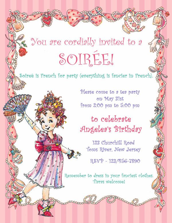 Fancy Nancy Party Invitation / 5