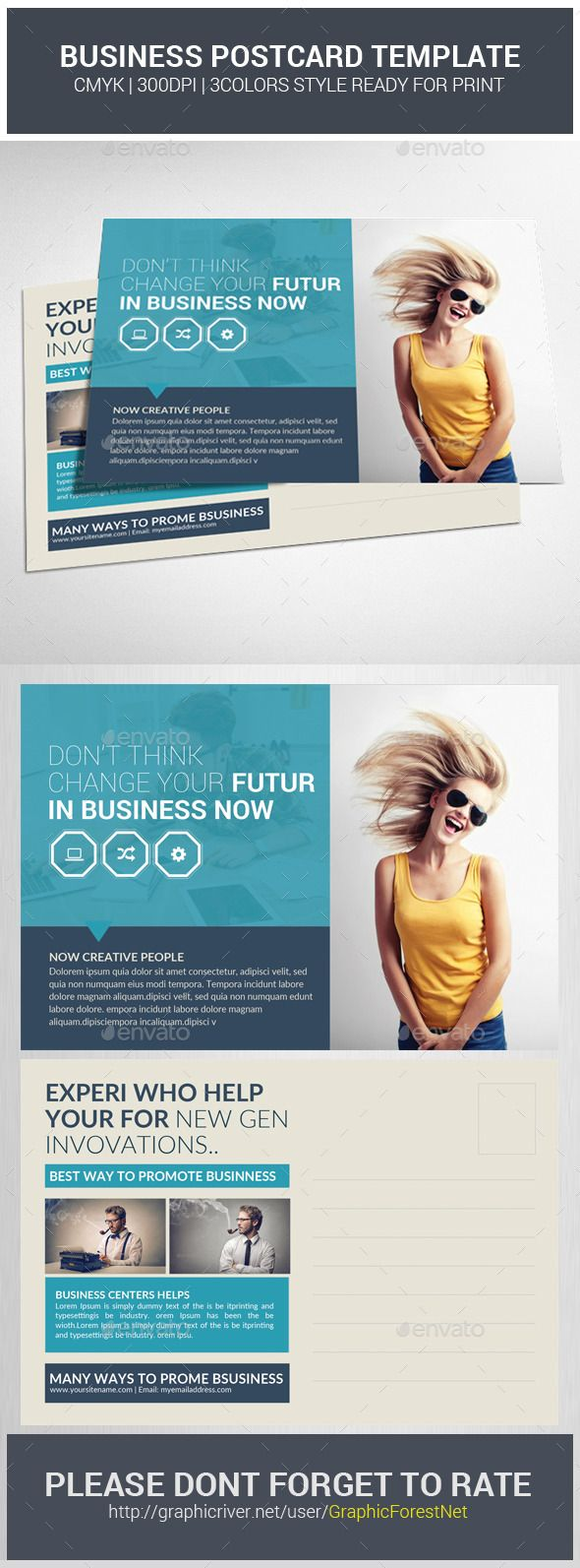 Business Postcard Template #design Download:  Http://graphicriver.net/item/business-Postcard-Template/11627830?ref=Ksioks