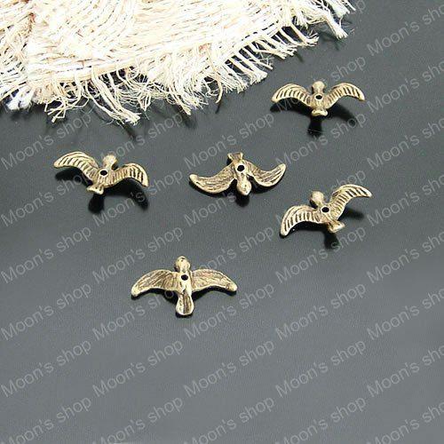 (21096)Alloy Findings,charm pendants,Antiqued style bronze tone 17*10MM Bird 50PCS $3,45
