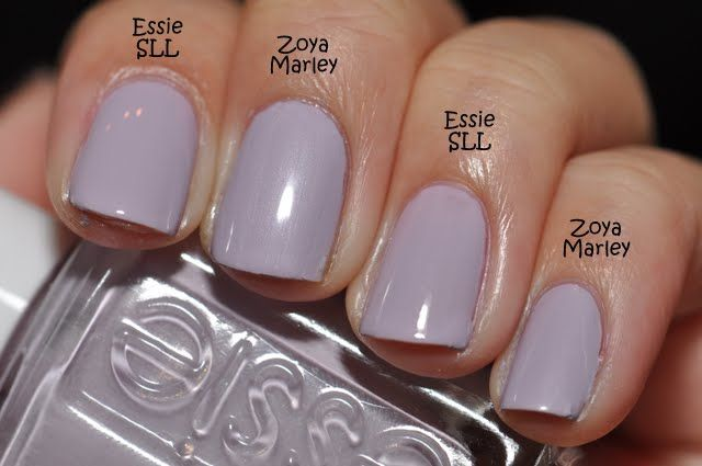 Spaz Squee Reswatch Essie Marshmallow And St Lucia Lilac