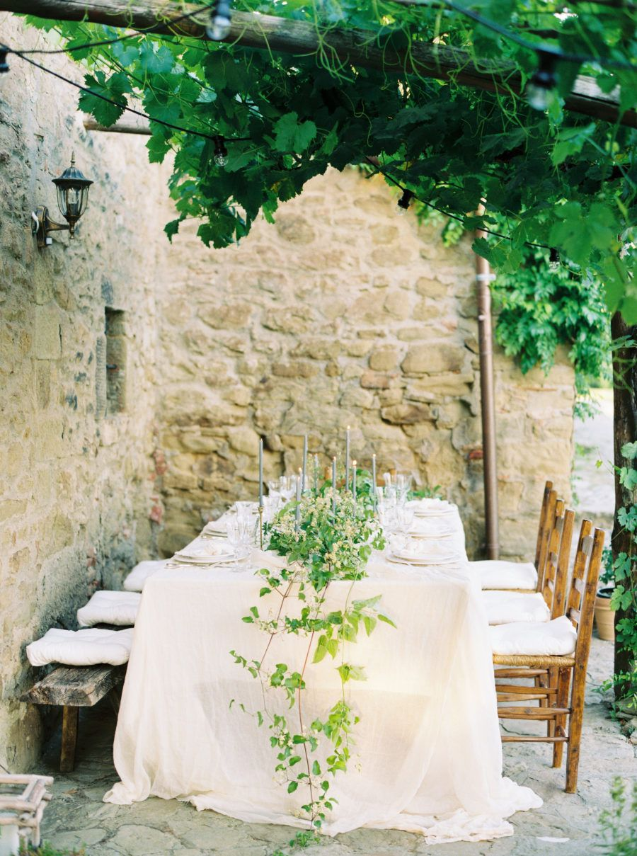 Outside barn wedding ideas  Intimate Tuscan Wedding at Villa Montanare with Foraged Florals