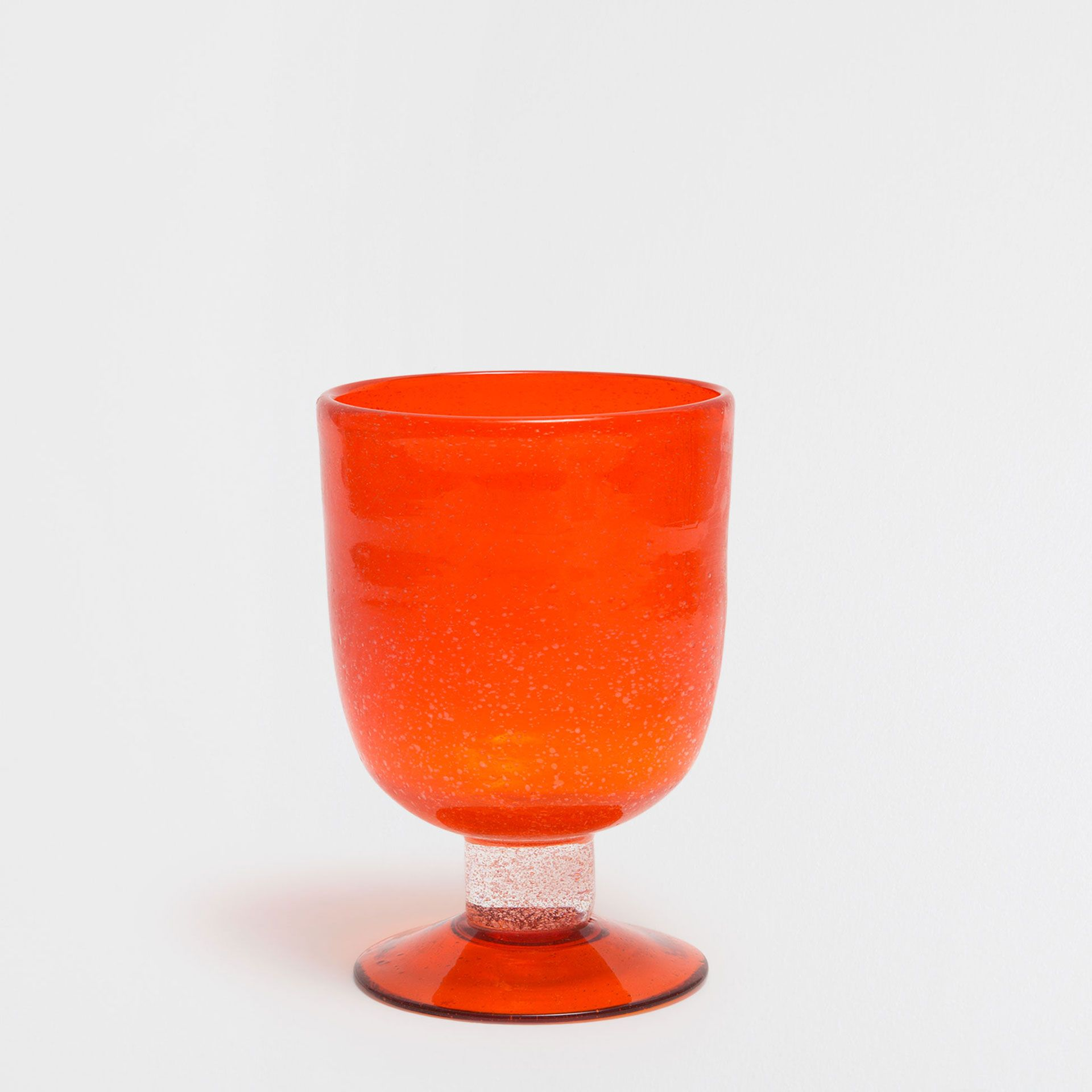 Image 1 Of The Product Orange Bubbles Wine Glass Orange Bubbles Glass Bubbles