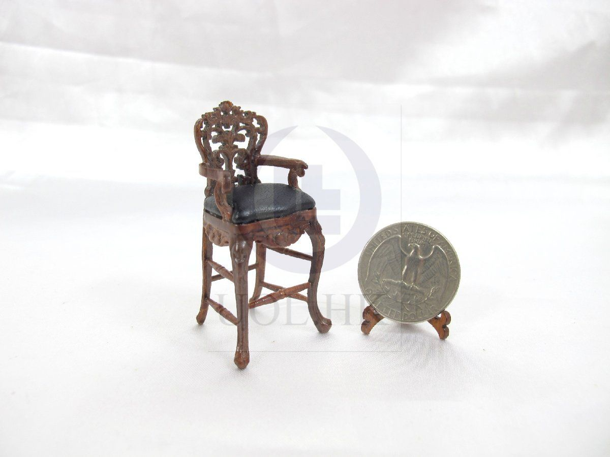 WN 1:24 Half Scale Miniature Victorian Carved Stove For Doll House