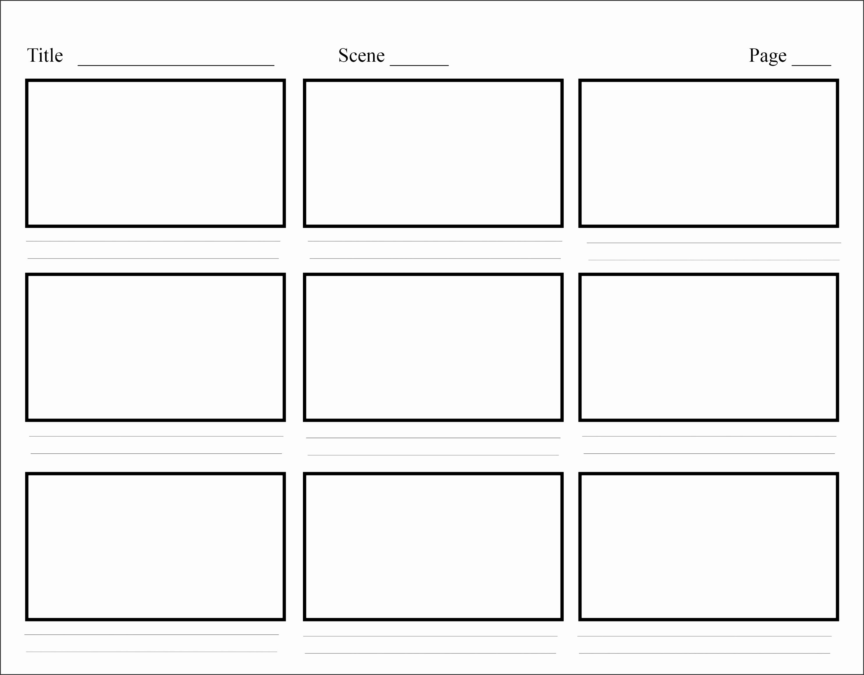 Storyboard Template Storyboard Template Character Design Tips