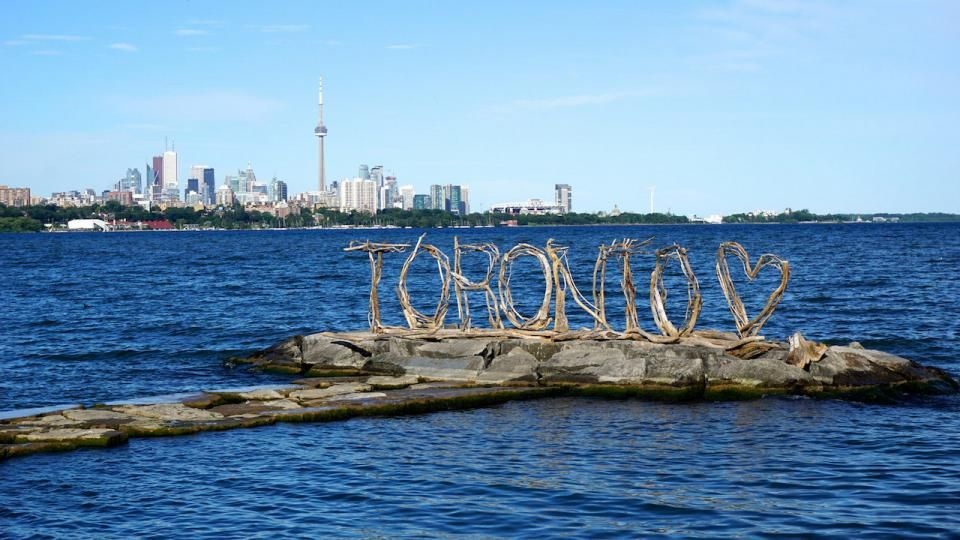 Driftwood toronto sign in humber bay shores park image by
