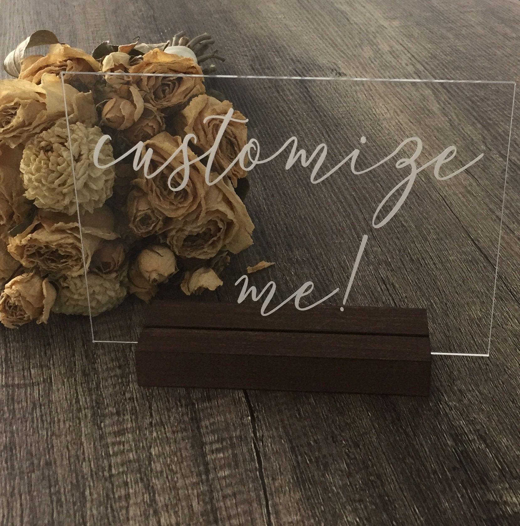 Acrylic Wedding Sign Custom Acrylic Sign Custom Sign