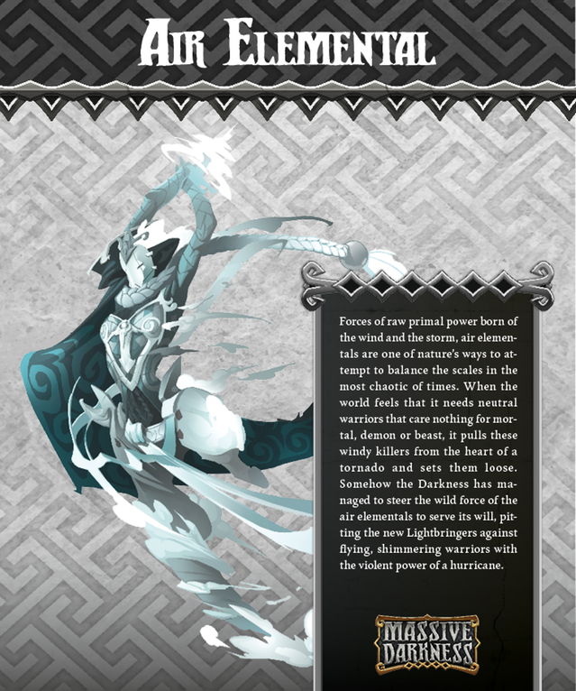 The Air Elemental does not put up much of a resistance, though its attacks from a distance can be devastating. Its hurricane attacks throw heroes about, leaving them battered, broken, and far away.
