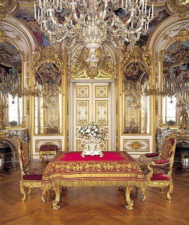 Speisezimmer Herrenchiemsee Palast Interior Schloss Linderhof