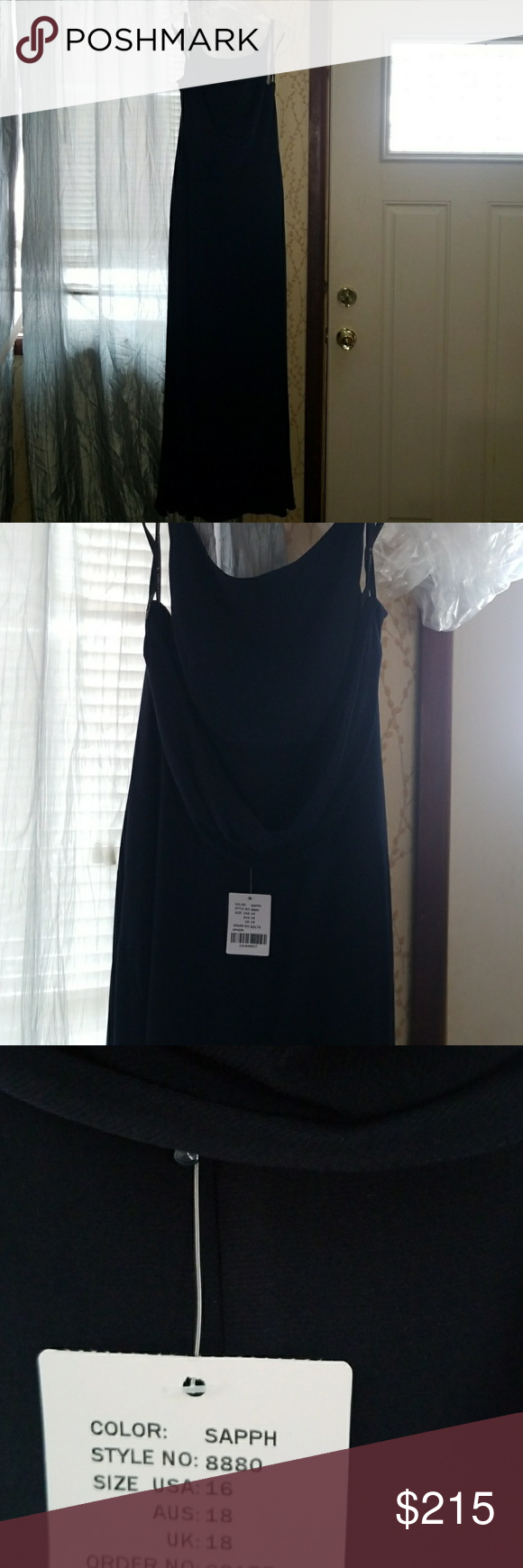 Navy blue bridesmaid dress nwt pinterest navy blue bridesmaids