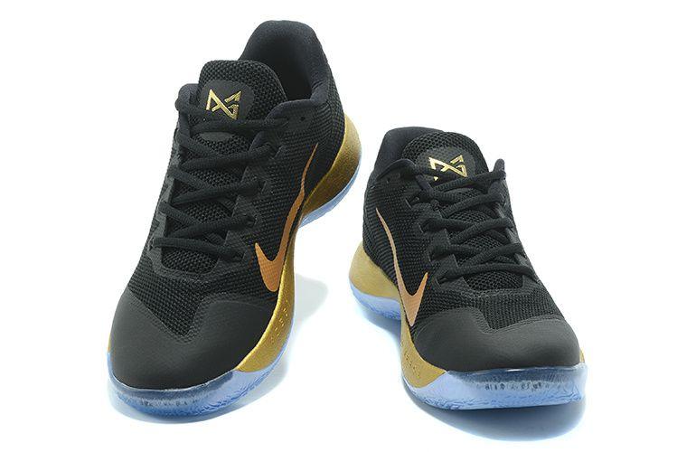 aa575c8bb70b chaussures de course PG 2 II Paul George Shoes Black Gold Championship Color