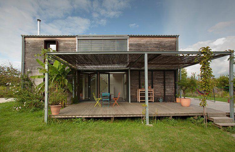 maison passive bois avec terrasse Maison bois Pinterest House