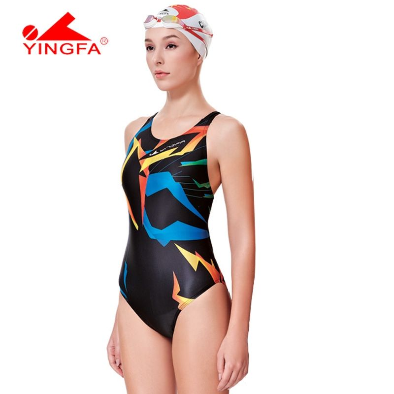 b902450daf Yingfa one piece Competitive swimming girls swimwear competition swimsuits  training swimsuit women girls racing swim suit