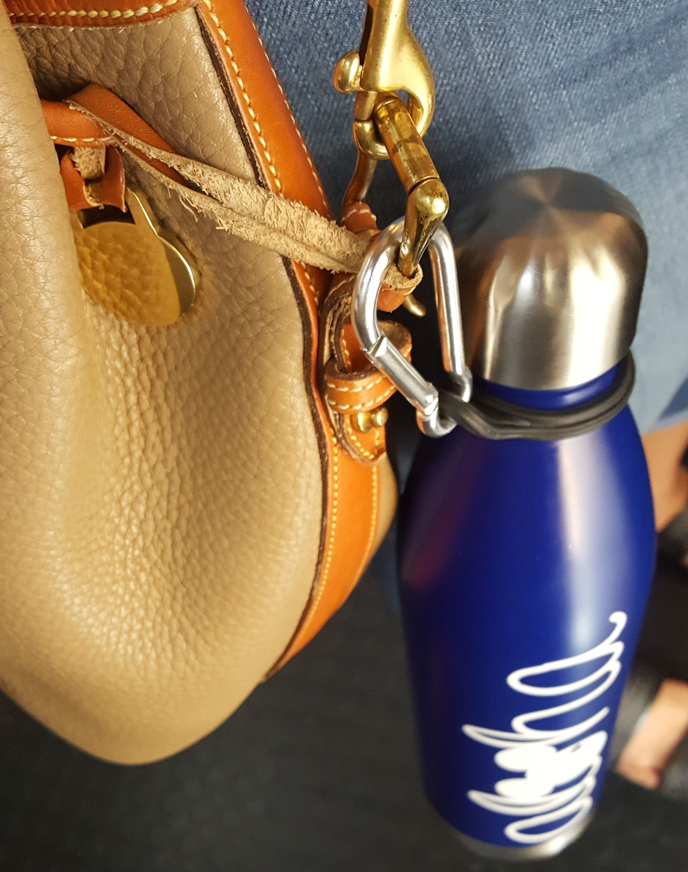 Clip your MIRA water bottle to anything! Your purse