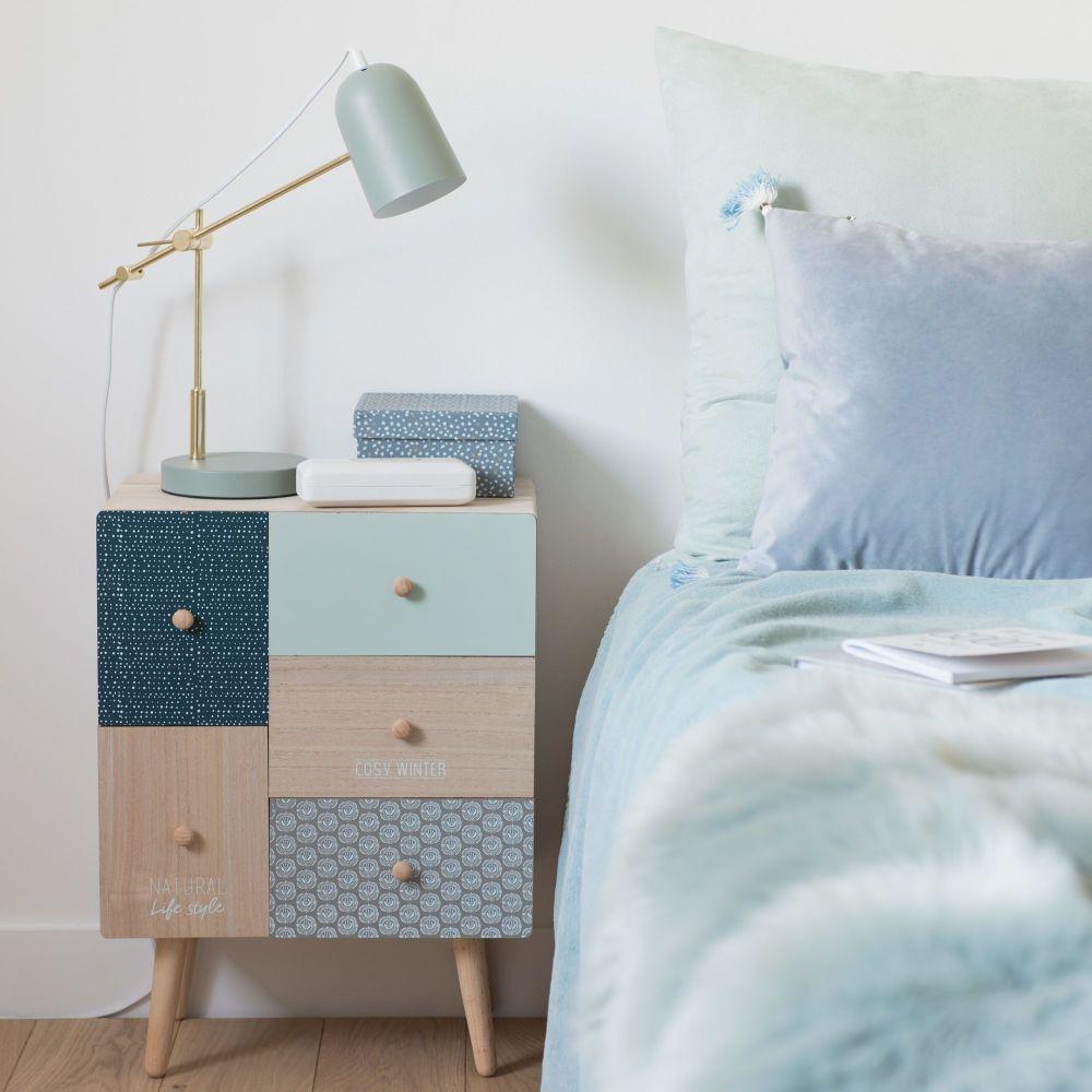 Petit meuble de rangement 5 tiroirs à motifs | Maisons du Monde