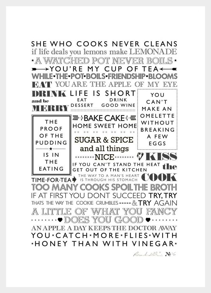 Image of 'She Who Cooks Never Cleans' Print   Ros Shiers