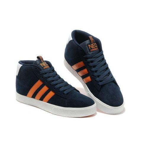 Adidas Neo Q38628 Mens/Womens High Tops Shoes Navy Orange Trainers