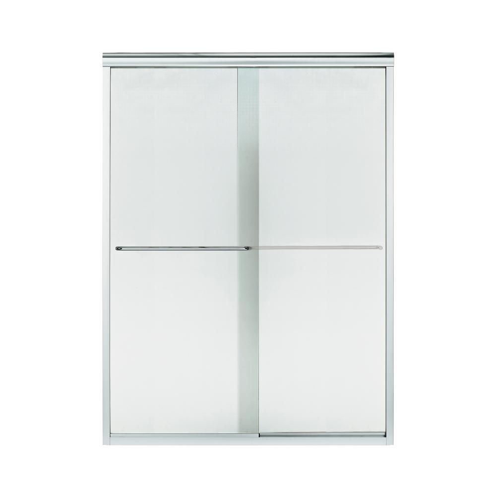 STERLING Finesse 57.5 in. x 70.3125 in. Frameless Sliding Shower Door in Silver-5375EZ-57S-G69 #framelessslidingshowerdoors