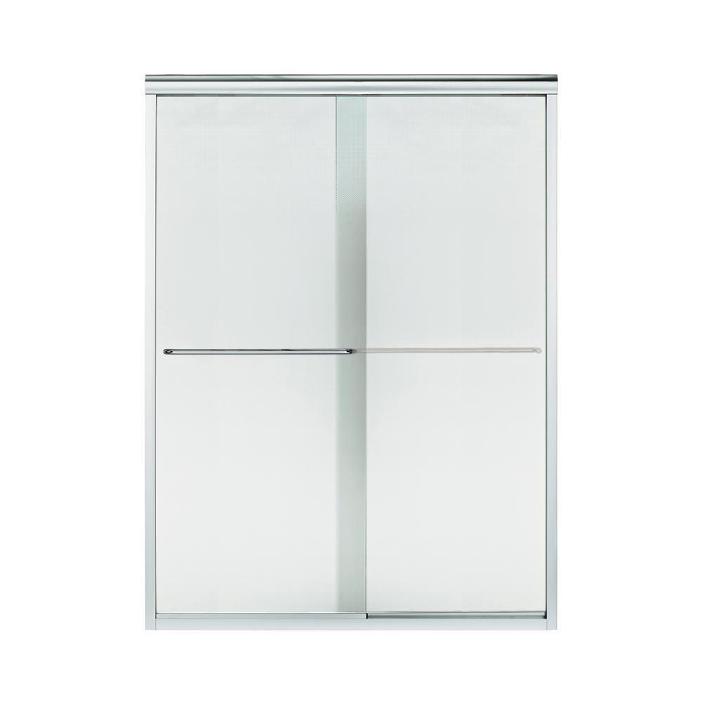 STERLING Finesse 57.5 in. x 70.3125 in. Frameless Sliding Shower Door in Silver-5375EZ-57S-G69 #framelessslidingshowerdoors