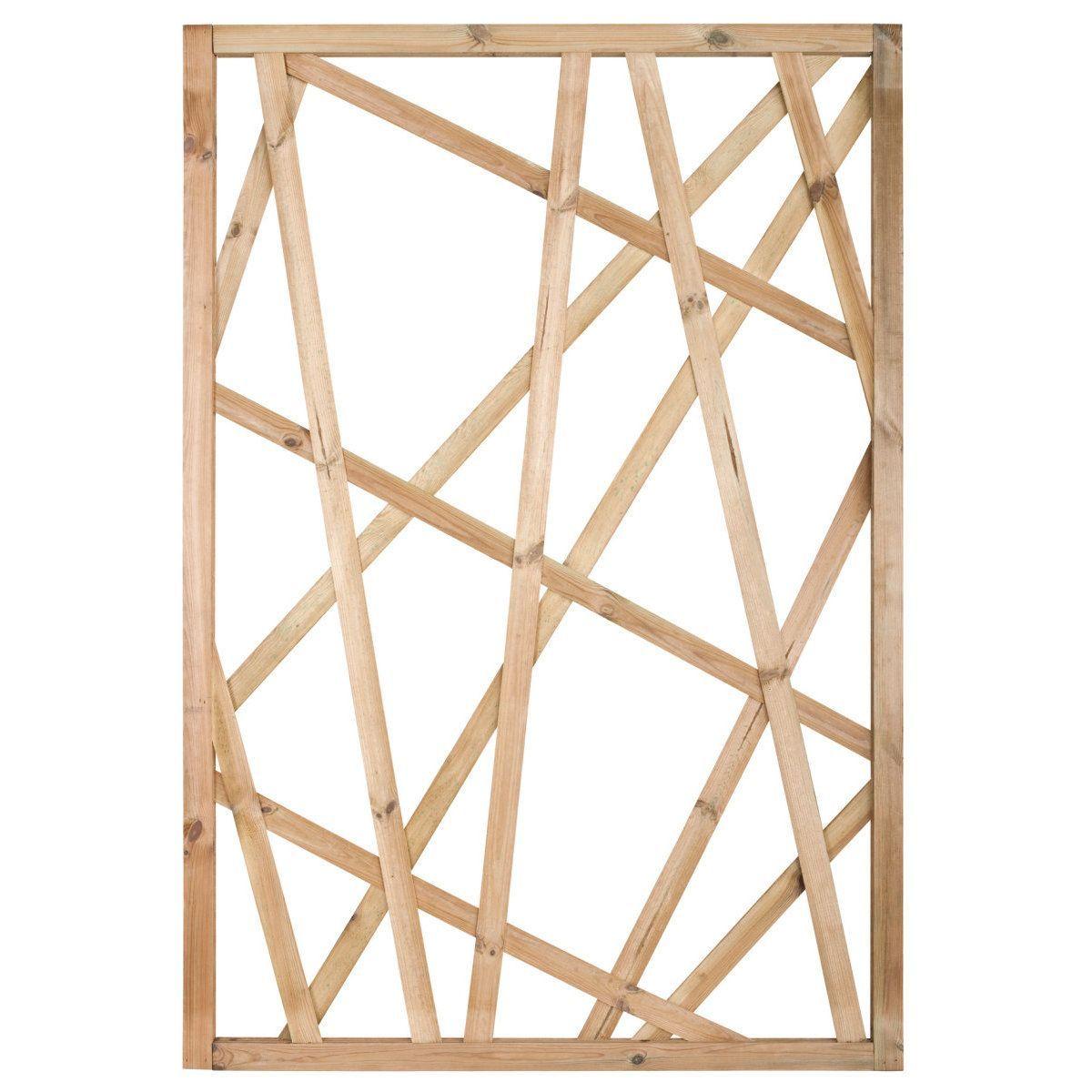 Claustra Treillis Exterieur Bois panneau treillis struktura pin traité autoclave classe 4
