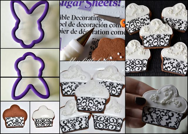Cupcake cookies- also a goid idea of how to utilize cutter shapes creatively.