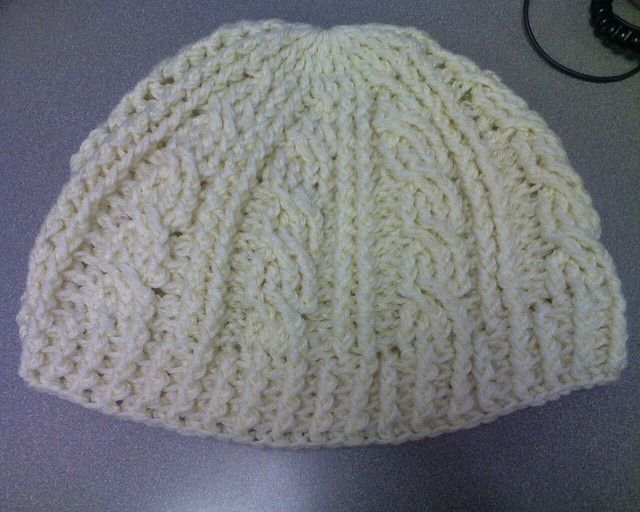 Crochet Cable hat by diva27406, via Flickr