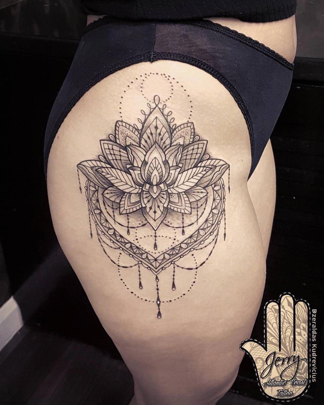 Pin By Joseph On Tattoos Thigh Tattoo Hip Tattoo Mandala Hip Tattoo
