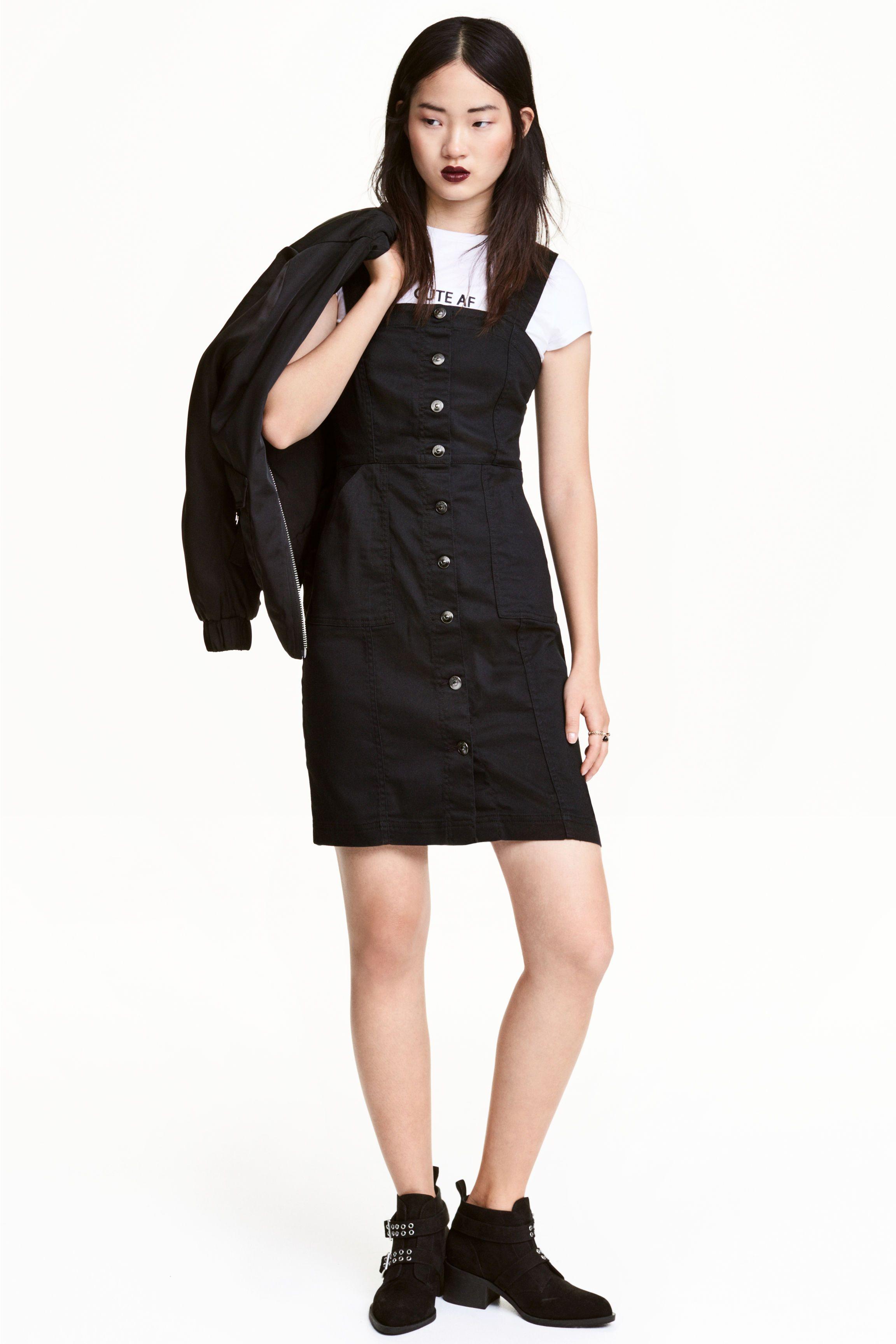 f7aa474178d7 H&M Denim Button Pinafore Dress | LB Dresses SS18 | Vestidos ...