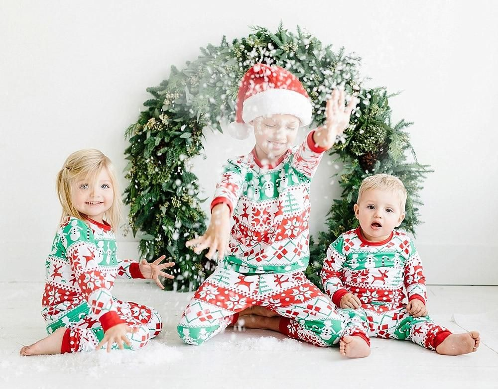 Christmas Clothing Sets Toddler Boys And Girls Long Sleeve