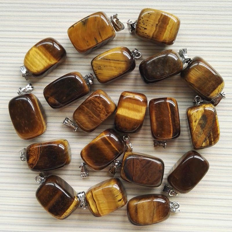 50pc charms tiger eye natural stone pendants for jewelry making 50pc charms tiger eye natural stone pendants for jewelry making high quality fashion women point necklace mozeypictures Gallery