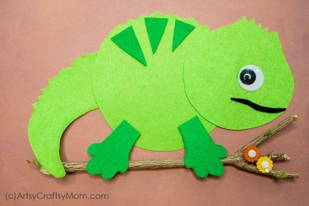 Make an I for Iguana Craft (Printable Template) that's