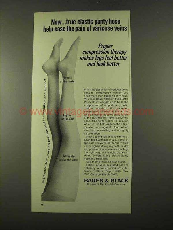 Bauer Black Panty Hose