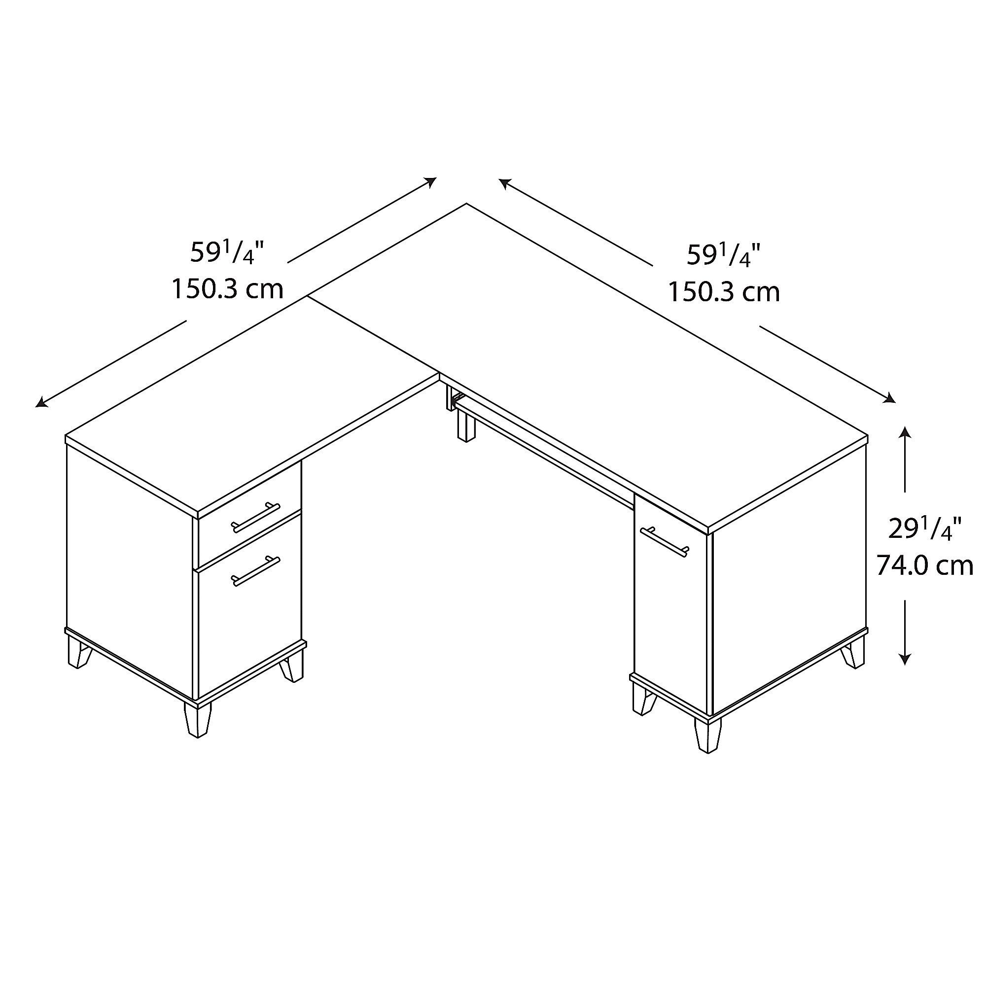 Bush Furniture Somerset 60w L Shaped Desk In Mocha Cherry Click On The Image For Additional Details It Is An Affil Diy Desk Plans L Shaped Desk Desk Plans