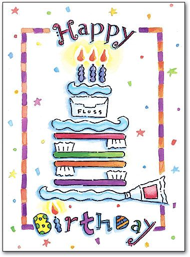 Dental Happy Birthday Folding Card By SmartPractice