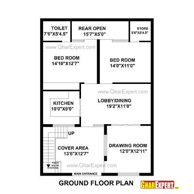 House Plan For 31 Feet By 43 Plot Size 148 Square Yards