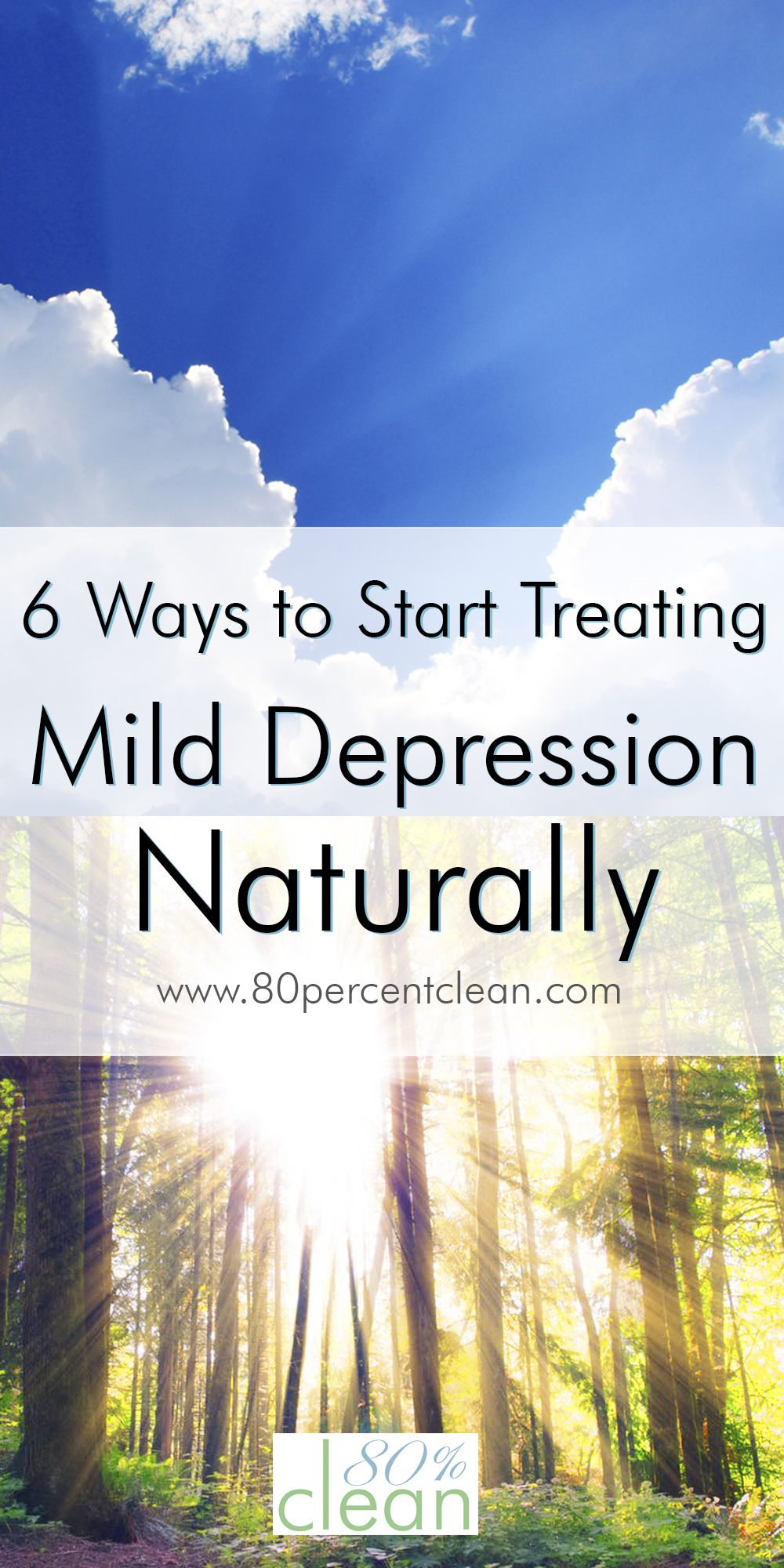 Feeling down? Think you might have a mild case of depression, but don't want to start on medication? You can try treating mild depression naturally first.