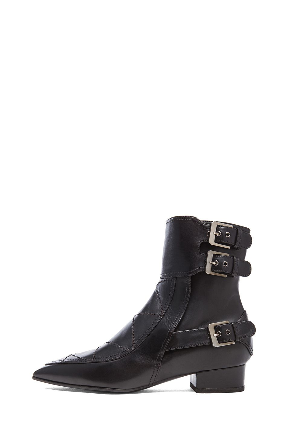 Laurence Dacade | Gepetto Leather Booties in Black Leather