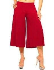 Womens Capri Wide Leg Gauchos Pants Plus Size XL 1x 2X Yoga ...