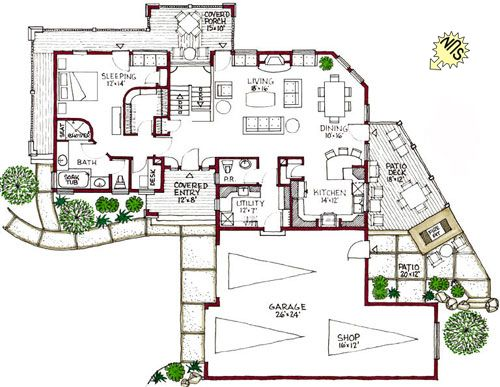 Passive Solar House Layout Passive Solar Homes Passive Solar House Plans Solar House