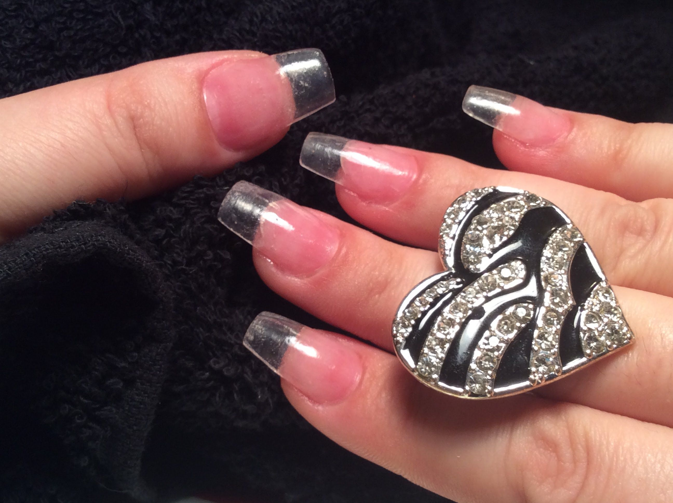 How To Do Clear Acrylic Nails At Home Clear Acrylic Nails Acrylic Nails At Home Acrylic Nails