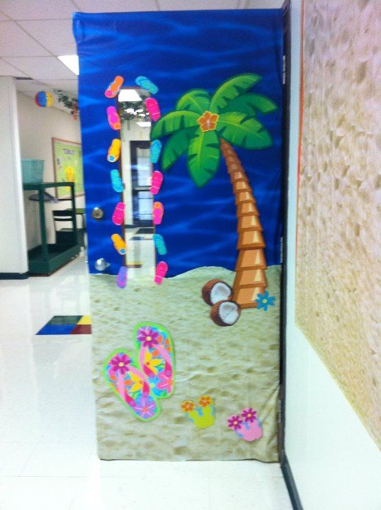 Life On The Beach Door Classroom Theme Classroom Decor
